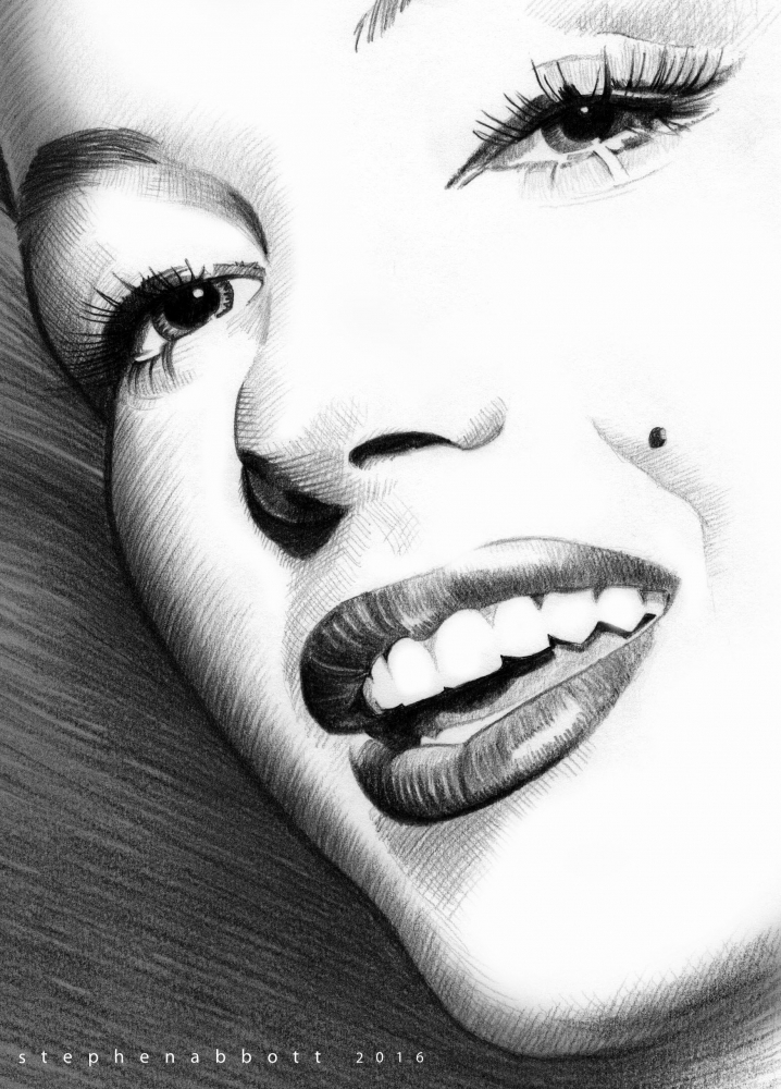 Marilyn Monroe por StephenAbbott